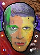 Icon  Mixed Media - Steve Mcqueen by David Rogers