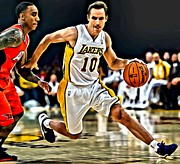 National Basketball Association Prints - Steve Nash Print by Florian Rodarte