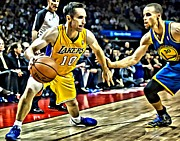 Dunking Photo Framed Prints - Steve Nash In Action Framed Print by Florian Rodarte
