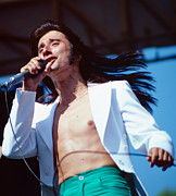 Concerts Prints - Steve Perry of Journey at Day on the Green Print by Daniel Larsen