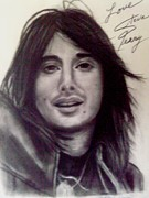 Signed Drawings Posters - Steve Perry Poster by Paula Soesbe