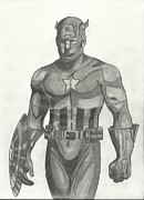 Avengers Drawings - Steve Rogers by Christina Frederick