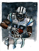Wide Receiver Mixed Media Framed Prints - Steve Smith Framed Print by Michael  Pattison