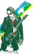 Steve Framed Prints - Steve Vai No.02 Framed Print by Caio Caldas