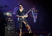 Concerts Photo Prints - Steve Vai on Guitar Print by The  Vault