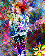 Rock N Roll Painting Prints - Steve Vai Original Painting Print Print by Ryan Rabbass