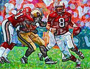 Football Mixed Media - Steve Young  by DJ Fessenden
