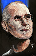 Boss Painting Framed Prints - Steven Paul Jobs Framed Print by Gordon Dean II
