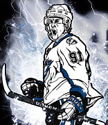 Hockey Mixed Media - Steven Stamkos by Nate Gandt