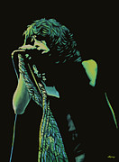 Hard Painting Framed Prints - Steven Tyler 2 Framed Print by Paul  Meijering