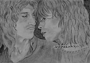 Steven Tyler Aerosmith Drawings - Steven Tyler And Joe Perry Image Pictures by Jeepee Aero
