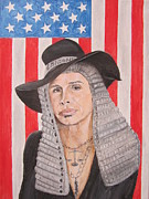 Aerosmith Paintings - Steven Tyler As A Judge Painting by Jeepee Aero