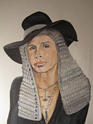 Judge Painting Framed Prints - Steven Tyler As American Idol Judge Framed Print by Jeepee Aero