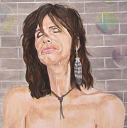 Earring Framed Prints - Steven Tyler Dreams On Framed Print by Jeepee Aero