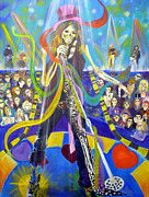 American Singer Paintings - Steven Tyler In 50 Years by To-Tam Gerwe
