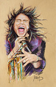 Aerosmith Framed Prints - Steven Tyler Framed Print by Melanie D