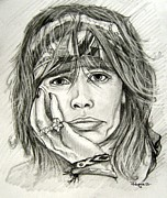 Steven Tyler Aerosmith Drawings - Steven Tyler by Patrice Torrillo