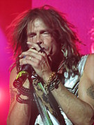 Aerosmith Metal Prints - Steven Tyler Picture Metal Print by Jeepee Aero