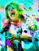 Splats Paintings - Steven Tyler by Rosalina Atanasova