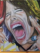 Steven Tyler Painting Originals - Steven Tyler by Tim Turner