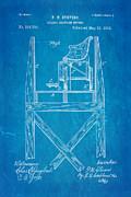 Stevens Roller Coaster Patent Art  3 1884 Blueprint Print by Ian Monk