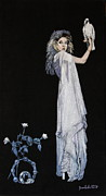Musician Tapestries - Textiles - Stevie Nicks Belladonna by Diane Bombshelter