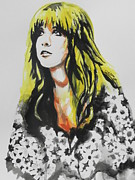 Female Musicians Painting Originals - Stevie Nicks by Chrisann Ellis