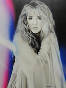 Musicians Framed Prints Paintings - Stevie Nicks by Christian Chapman Art