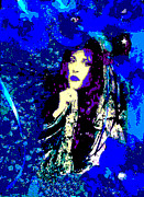 Posters On Digital Art - Stevie Nicks In Blue by Alys Caviness-Gober