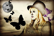 Award Digital Art Posters - Stevie Nicks Poster by Jessica Grandall