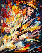 Stevie Ray Vaughan Print by Leonid Afremov