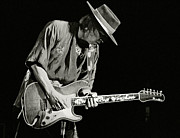 Rock Star Prints Framed Prints - Stevie Ray Vaughan_1984 Framed Print by Chuck Spang