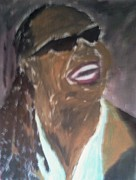 Funk Paintings - Stevie Wonder 1 by Christy Brammer