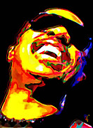 Yellow Digital Art Originals - Stevie Wonder by Byron Fli Walker