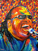 Motown Painting Originals - Stevie Wonder by Kevin Rogerson