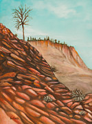 Zion Paintings - Sticks and Stones by Eve  Wheeler