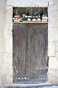 French Door Art - Sticks Stones and an Old Wooden Door by Georgia Fowler