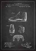 Stiffner For Boots And Shoes Patent Drawing From 1880 Print by Aged Pixel