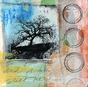 Green Blue Prints - Still Here Print by Linda Woods