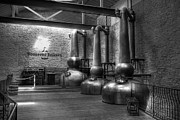 Distillery Prints - Still In Kentucky bw Print by Mel Steinhauer