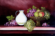 Grapes Painting Posters - Still Life  Poster by Amani Al Hajeri