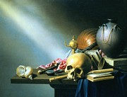 Vanity Paintings - Still Life An Allegory of the Vanities of Human Life by Harmen van Steenwyck