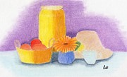 Food And Beverage Pastels - Still Life by Bav Patel