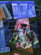 Famous Artists - Still Life before an Open Window Place Ravignan by Juan Gris