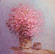 Sakura Paintings - Still Life Blossoming Sakura in A Jar by Xu Bin