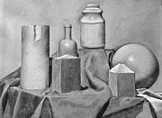 Wine-bottle Pastels - Still Life by Britt Kuechenmeister