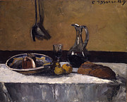 Pitchers Painting Prints - Still lIfe Print by Camille Pissarro
