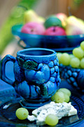 Blue Grapes Photos - Still life cheeses and grapes by Amy Cicconi
