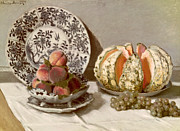 Plates Paintings - Still Life by Claude Monet