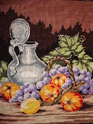 Grape Tapestries - Textiles Metal Prints - Still Life Metal Print by Eugen Mihalascu